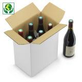 Flesverpakking met automatische bodem en geïntegreerde vakverdeling