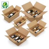 Flesverpakking met kartonnen ligbed en automatische montage