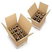 Flesverpakking met versterkte vakverdeling 25 tot 50 cl