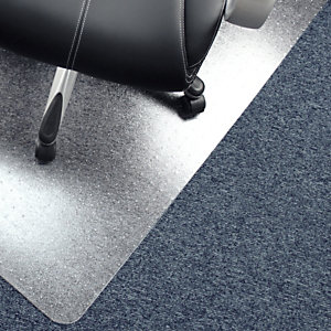 Floortex Cleartex® Cleartex® AdvantageMat Alfombrilla protectora para sillas, rectangular, 1200 mm x 1500 mm, antimicrobiana, alfombras, PVC 100% reciclable, transparente