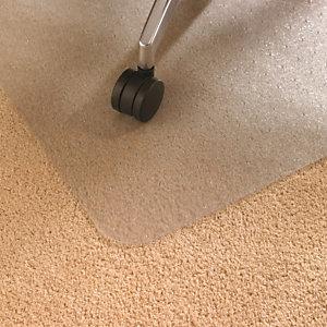 Floortex Cleartex® Cleartex® AdvantageMat Alfombrilla protectora para sillas, rectangular, 900mm x 1200mm, antimicrobiana, alfombras, PVC 100% reciclable, transparente