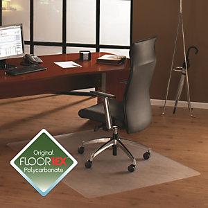 Floortex Cleartex® Cleartex Ultimat Alfombrilla protectora para sillas hecha de policarbonato para suelos duros, rectangular, 120 x 150cm, transparente