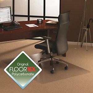 Floortex Cleartex® Cleartex Ultimat Alfombrilla protectora para sillas de policarbonato para alfombras de grosor medio, rectangular, 119 x 89cm, transparente