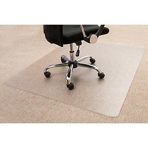 Floortex Cleartex® Tappeto salvamoquette in policarbonato, Trasparente, 120 x 150 cm