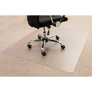 Floortex Cleartex® Tappeto salvamoquette in policarbonato, Trasparente, 120 x 90 cm