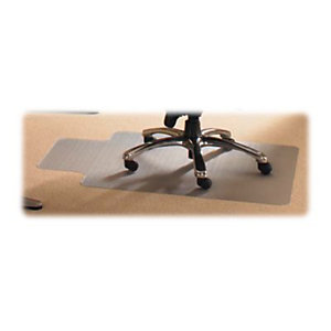 Floortex Cleartex® Tappeto salvapavimento in PVC, Trasparente, 115 x 134  cm + Lip