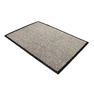 Floortex Felpudo de interior 60 x 90 cm gris jaspeado