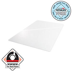 Floortex Tapis protège-sol Cleartex® AdvantageMat, rectangulaire, 1 200 mm x 1 500 mm, anti-microbien, pour sols durs, PVC 100 % recyclable, transparent