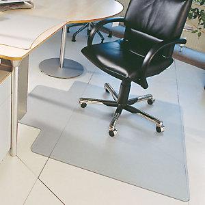 Floortex Tapis de sol avec découpe 90 x 120 cm pour sols durs - en vinyle transparent