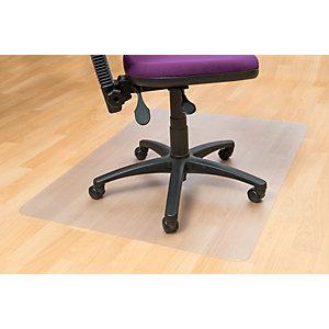 Floortex Tapis de sol rectangulaire 90 x 120 cm pour sols durs - en PVC 100 % recyclable - transparent