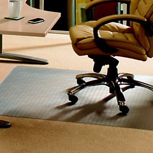 Floortex Tappeto salvamoquette in PVC, Trasparente, 120 x 150 cm