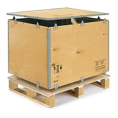 Foldable plywood pallet and export boxes