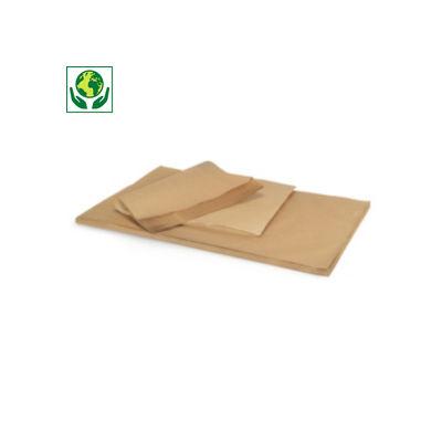 Folhas de papel kraft natural qualidade 72 gr/m² RAJA Super