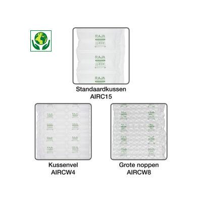 Film polyéthylène 50 % recyclé pour système de calage air RAJA##Folie van 50% gerecycleerd polyethyleen voor luchtkussenmachine RAJA