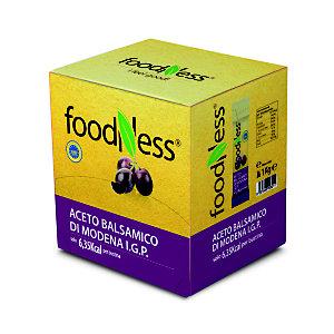 foodNess® Aceto Balsamico di Modena IGP confezionato in bustina monodose, 5 ml (confezione 100 pezzi)