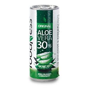 foodNess® Aloe vera da bere Original, Lattina da 250 ml (confezione 24 pezzi)