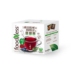 foodNess® Capsula Tisana Melograno & Mirtillo, Compatibile Dolcegusto®* (confezione 10 capsule)