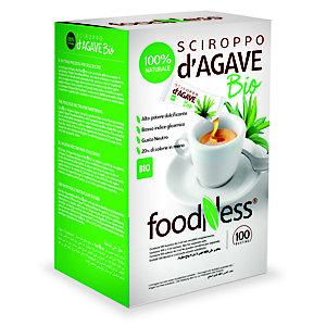 foodNess® Dolcificante a base di sciroppo di agave, confezionato in bustine monodose, 3 ml (confezione 100 pezzi)