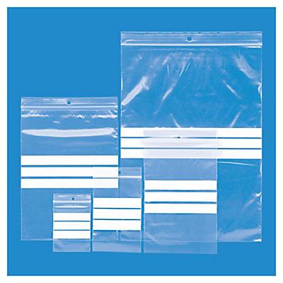 Förpackning med 1000 blixtlåspåsar -  5 olika storlekar med skrivfält i 50 my - Rajagrip Super - Raja