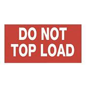 Forsendelsesetiketter - Do not topload