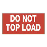 Forsendelsesetiketter - Do not topload