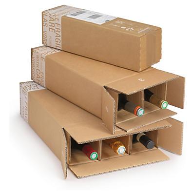 Forsendelseskasse med manuel rumdeler til flasker CARGO