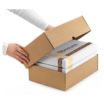 Forstærket teleskopisk kasse - Brun