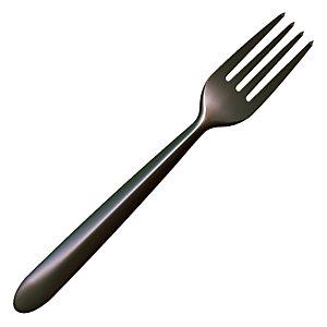 Fourchettes jetables Lux by Starck, coloris noir, lot de 50 fourchettes