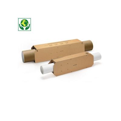 Fourreau carton emballage pour expedition tube rond