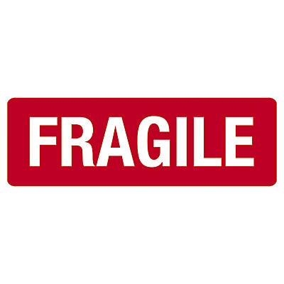 Fragile packaging labels