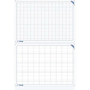 LA FRANCAISE DES COULEURS LFC Ardoise pédagogique, 34 X 24cm,  polypropylène : 12/10ème, effaçable, recto double ligne verso seyes agrandi