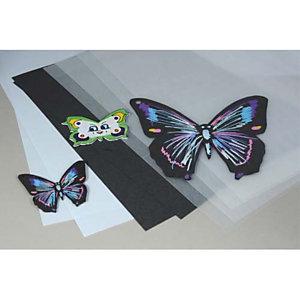 LA FRANCAISE DES COULEURS OCOLOR Pochette de 30 feuilles A4 de plastique fou, 20 transparentes, 5 blanches, 5 noires