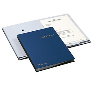 FRASCHINI Libro firma - 18 intercalari - 24x34 cm - blu - Fraschini
