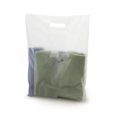 Frosted degradable plastic carrier bags