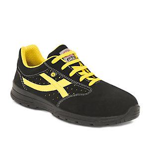 FTG safety shoes Calzatura bassa Soccer S1P SRC ESD, Microfibra, Nero, Taglia 43