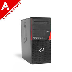 Fujitsu PC P720 Tower Core i5-4570, 4GB, 240GB SSD, DVD, Win 10 Pro mar, Ricondizionato Classe A