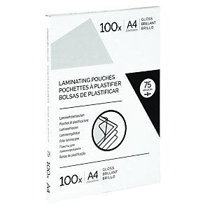 Fundas de plastificación A4 125 micras brillo 100 unid