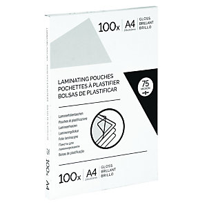 Fundas de plastificación autoadhesivas A4 75 micras brillo 100 unid