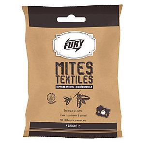 FURY Crochets anti-mites textiles Fury, lot de 4 crochets