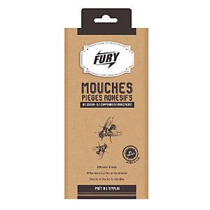 FURY Pièges adhésifs mouches Fury, étui de 4