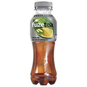 FUZE TEA FUZETEA Senza zuccheri Tè gusto Limone con una nota di Lemongrass, Bottiglia 400 ml (confezione 12 pezzi)