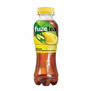 FUZE TEA FUZETEA Tè gusto limone con una nota di lemongrass, Bottiglia 400 ml (confezione 12 pezzi)