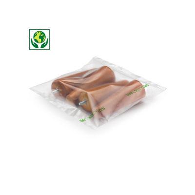Gaine transparente 100% recyclée 100 microns