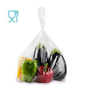 GANDOLFI Sacchetti Rex per alimenti - politene - 80x150 cm - 50 micron - trasparente - Gandolfi - conf. 25 pezzi