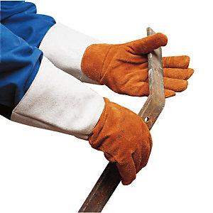 Gants de manutention anti-chaleur en cuir, taille unique