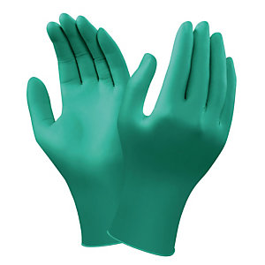 Gants protection chimique en nitrile Ansell TouchNtuff 92-600, taille 7, la boite de 100.