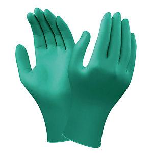 Gants protection chimique en nitrile Ansell TouchNtuff 92-600, taille 9, la boite de 100.