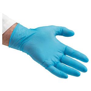 Gants à usage court nitrile bleus