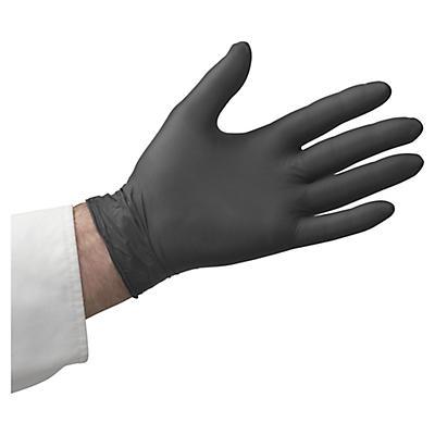Gants à usage court nitrile noirs