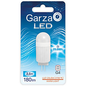 Garza BIPIN Bombilla LED 2,5W, casquillo G4, blanco cálido